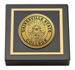 Gainesville State College Paperweight  - Gold Engraved Medallion Paperweight