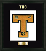 Trumbull High School in Connecticut Varsity Letter Frame - Varsity Letter Frame in Omega