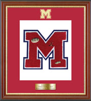 Massena Central High School in New York Varsity Letter Frame - Varsity Letter Frame in Newport