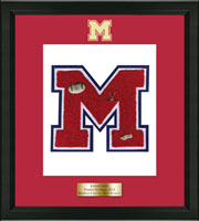 Massena Central High School in New York Varsity Letter Frame - Varsity Letter Frame in Omega