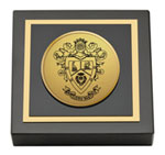 Delta Sigma Pi Paperweight  - Gold Engraved Medallion Paperweight