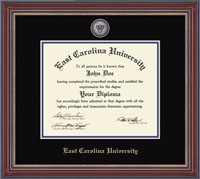 East Carolina University Diploma Frames