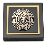 The University of Iowa Paperweight  - Masterpiece Medallion Paperweight