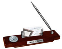 Georgetown University Desk Pen Set - Pewter Masterpiece Medallion Desk Pen Set