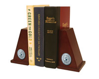 Georgetown University Bookends - Pewter Masterpiece Medallion Bookends