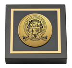 National Honor & Merit Scholars Society Paperweight - Gold Engraved Medallion Paperweight