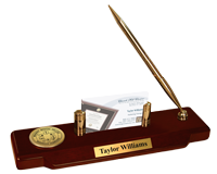 Meharry Medical College Desk Pen Set - Gold Engraved Medallion Desk Pen Set