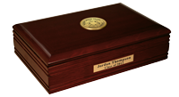 Meharry Medical College Desk Box  - Gold Engraved Medallion Desk Box