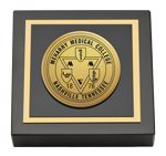 Meharry Medical College Paperweight - Gold Engraved Medallion Paperweight