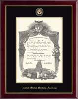United States Military Academy Diploma Frame - Masterpiece Medallion Diploma Frame in Gallery