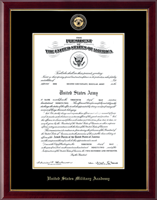 United States Military Academy Certificate Frame - Masterpiece Medallion Certificate Frame in Galleria