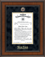 United States Military Academy Certificate Frame - Masterpiece Medallion Certificate Frame in Madison