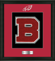 Beekmantown High School in New York Varsity Letter Frame  - Varsity Letter Frame in Omega