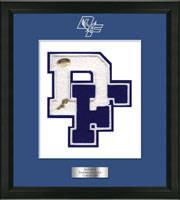 Dobbs Ferry High School in New York Varsity Letter Frame - Varsity Letter Frame in Omega