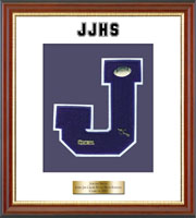John Jay Cross River High School Varsity Letter Frame - Varsity Letter Frame in Newport