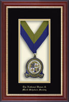 National Honor & Merit Scholars Society Medal Frame - Commemorative Medallion Frame in Newport