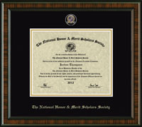 National Honor & Merit Scholars Society Certificate Frame - Pin Edition Certificate Frame in Brentwood
