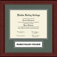 Diablo Valley College Diploma Frame - Lasting Memories Wordmark Banner Frame in Sierra