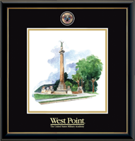 United States Military Academy Litho Frame - Masterpiece Medallion Monument Litho Frame in Onexa Gold