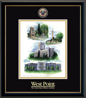 United States Military Academy Litho Frame - Masterpiece Medallion Summer Collage Litho Frame in Onexa Gold