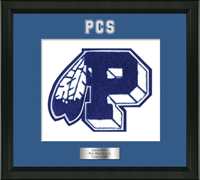 Peru High School in New York Varsity Letter Frame - Varsity Letter Frame in Omega
