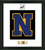 Newtown High School in Connecticut Varsity Letter Frame - Varsity Letter Frame in Omega