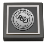 Abilene Christian University Paperweight  - Silver Engraved Medallion Paperweight