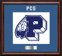 Peru High School in New York Varsity Letter Frame - Varsity Letter Frame in Southport