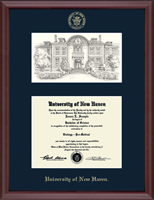 University of New Haven Diploma Frame - Campus Scene Edition Diploma Frame in Camby