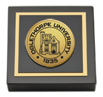 Oglethorpe University  Paperweight - Gold Engraved Medallion Paperweight