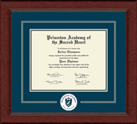 Princeton Academy of the Sacred Heart Diploma Frame - Lasting Memories Circle Logo Diploma Frame in Sierra