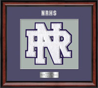 New Rochelle High School in New York Varsity Letter Frame - Varsity Letter Frame in Southport