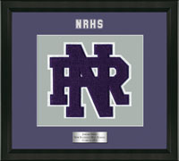 New Rochelle High School in New York Varsity Letter Frame - Varsity Letter Frame in Omega