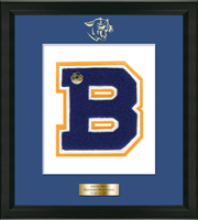Brookfield High School in Connecticut Varsity Letter Frame - Varsity Letter Frame in Omega