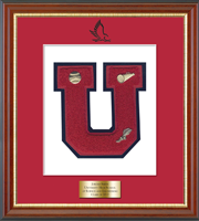 University High School of Science and Engineering Varsity Letter Frame - Varsity Letter Frame in Newport