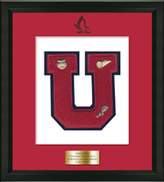 University High School of Science and Engineering Varsity Letter Frame - Varsity Letter Frame in Omega