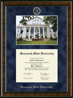 Savannah State University Diploma Frame - Campus Scene Edition Diploma Frame in Brentwood