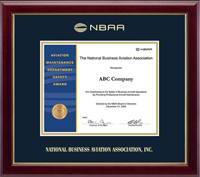 National Business Aviation Association Certificate Frame - Gold Embossed Certificate Frame in Gallery
