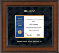 National Business Aviation Association Certificate Frame - Presidential Edition Certificate Frame in Madison