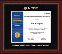 National Business Aviation Association Certificate Frame - Gold Embossed Achievement Edition Certificate Frame in Academy