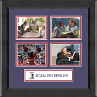 Sigma Phi Epsilon Photo Frame - Lasting Memories Quad Banner Photo Frame in Arena