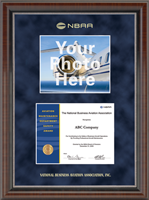 National Business Aviation Association Certificate Frame - Double Certificate Frame in Chateau
