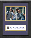 Sigma Alpha Epsilon Photo Frame - 4' x 6' - Lasting Memories Banner Photo Frame in Arena