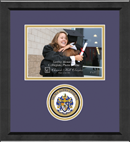 Sigma Alpha Epsilon Photo Frame - 5' x 7' - Lasting Memories Circle Logo Photo Frame in Arena