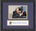 Sigma Alpha Epsilon Photo Frame - 5' x 7' - Lasting Memories Banner Photo Frame in Arena