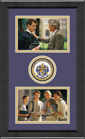 Sigma Alpha Epsilon Photo Frame - Lasting Memories Double Circle Logo Photo Frame in Arena
