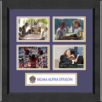 Sigma Alpha Epsilon Photo Frame - Lasting Memories Quad Banner Photo Frame in Arena