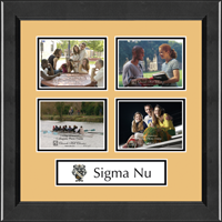 Sigma Nu Photo Frame - Lasting Memories Quad Banner Photo Frame in Arena