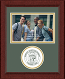 Norfolk State University Photo Frame - Lasting Memories Circle Logo Photo Frame in Sierra
