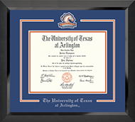 The University of Texas Arlington (UTA) Diploma Frame - Spirit Medallion Diploma Frame in Eclipse